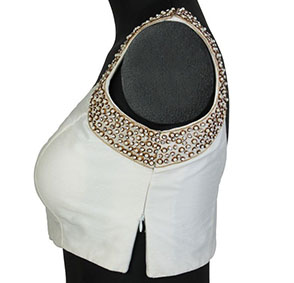Princes Cut Blouse With Side zip Boat Neck