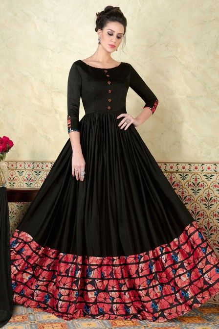 Full Frilled Long Gown + Design ( Gown )